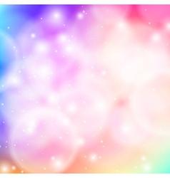 Shining bokeh in pink vector image
