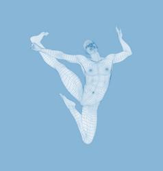 Silhouette a dancer sports concept 3d man vector