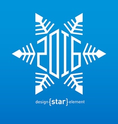 snowflakes for New Year 2016 design vector image