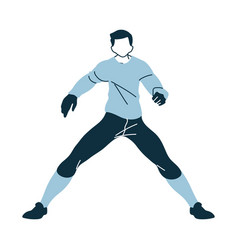 Soccer goalkeeper player man with uniform in vector