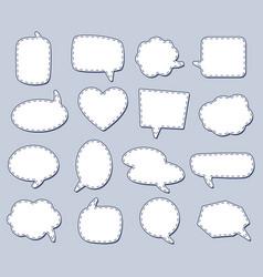 steach speech bubbles for talk conversation vector image