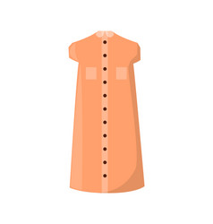 Stylish summer dress with pockets and buttons vector