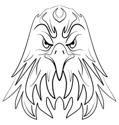 Stylized eagle head emblem vector image