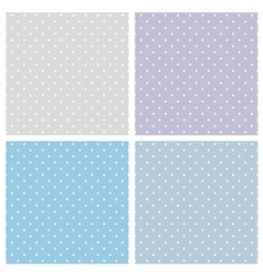 Tile blue pattern set with polka dots vector