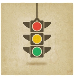 traffic light symbol vector image