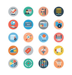 Universal Web Flat Colored Icons 4 vector