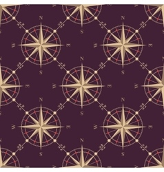Vintage compass seamless pattern vector image