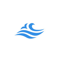 Wave water sea logo icon vector