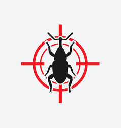 Weevil icon red target vector