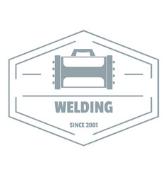 Welding logo simple gray style vector