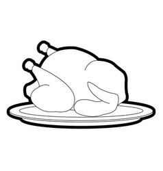 whole chicken or turkey icon image vector image