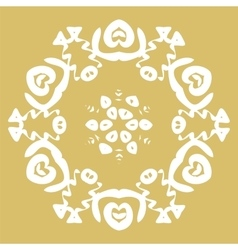 Winter card snowflake pattern vector image vector image
