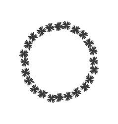 wreath crown flower icon graphic vector image