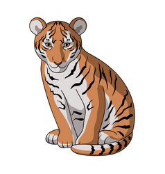 young tigeranimals single icon in cartoon style vector image