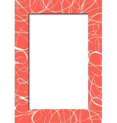 Abstract red frame with scribbles vector image vector image
