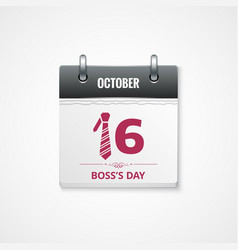 boss day calendar background vector image vector image