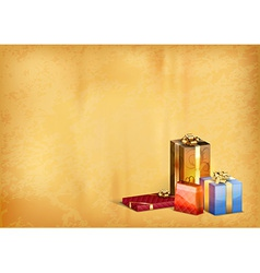 christmas old background vector image vector image