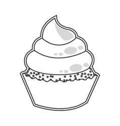 cute cupcake dessert cake vector image vector image
