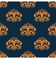 Floral orange seamless pattern vector image