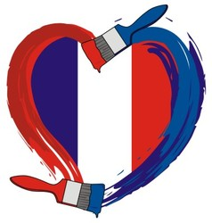 France ngrunge flag brush vector image