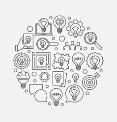 idea creative llustration vector image