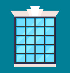 modern house window in flat design vector image vector image