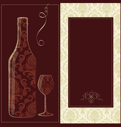 wine card creative wine card for vector image