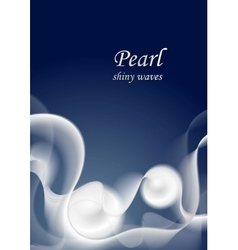 Abstract shiny pearl color waves vector image