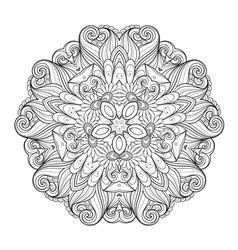 Beautiful Deco Monochrome Contour Star vector image vector image