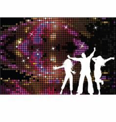 disco people vector image vector image