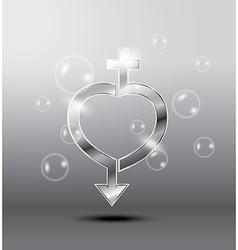 heart sex vector image vector image