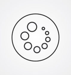 loading outline symbol dark on white background vector image vector image