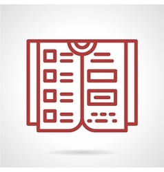 Reference book red line icon vector
