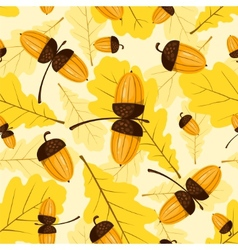 seamless oak pattern vector image