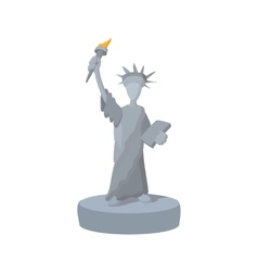 Statue of Liberty cartoon icon vector image