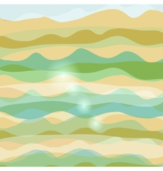 Abstract background with waves pastel colors vector image vector image