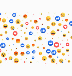 abstract isolated emoji background icons vector image