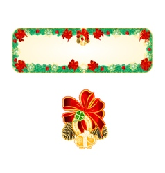Banner Christmas Spruce lucky symbols vector image vector image