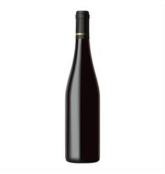 Black wine bottle isolated on white background vector image