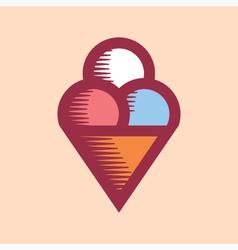 Ice Cream Icon Vintage vector image vector image