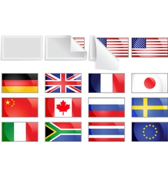 international transfer flags vector image vector image