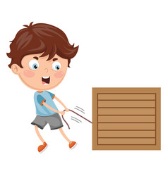 kid pulling vector image