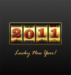 lucky new year vector image vector image