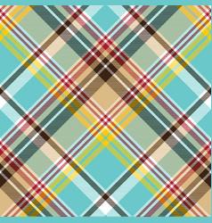 seamless fabric texture plaid blue madras vector image