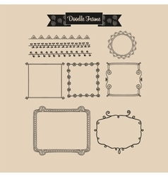 Abstract vintage frame in Doodle vector image