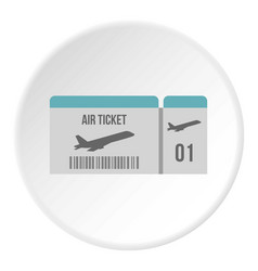 air ticket icon circle vector image vector image