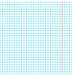 Blank squared paper sheet background vector image