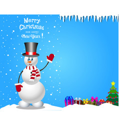 Christmas and new year card with space for text vector