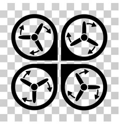 copter screws rotation icon vector image vector image