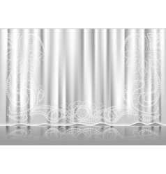 curtain white vector image
